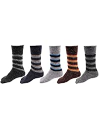 RC. ROYAL CLASS Kids Calf Length Towel Thick Woolen Blend Socks (Pack of 5 Pairs)(age group 1-8 years)