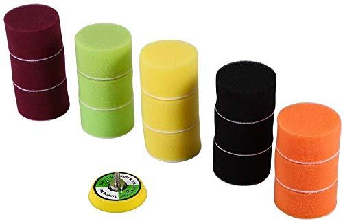 6 inch Yefun /Éponge de Polissage,Kit de Polissage,Polissage///Éponge//Laine De Polissage Cirage Polishing Pads pour Polisseuse de Voiture