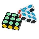 EasyGame LanLan Cubo Super Floppy, Blanco+Negro, 1 x 3 x 3 cubos de velocidad