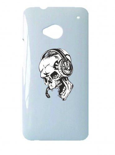 Smartphone Case teschio con cuffie scheletro Frecce Club Tote Skull Head Set Gothic Biker Skull Emo Old School per Apple Iphone 4/4S, 5/5S, 5C, 6/6S, 7& Samsung Galaxy S4, S5, S6, S6