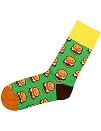 Chaussettes avec motifs rigolo sympa cool Taille: 39 - 42 pour femme homme adulte ou Ados fille garçon idée cadeau une petite touche d'humour, d'amour, de tendresse, de fantaisie, et d'originalité, choisir:SO-XL06 Burger