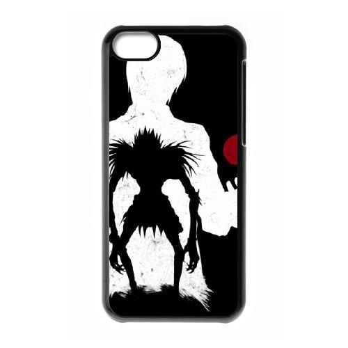 Death Note coque iPhone 5C Housse téléphone Noir de couverture de cas coque EBDXJKNBO11886