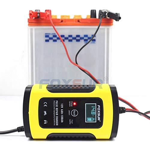gfjfghfjfh 12V Motorrad & Auto Automatische Intelligente USV-Batterie-Ladegerät LCD Display EFB AGM Gel Pulse Reparatur-Ladegerät