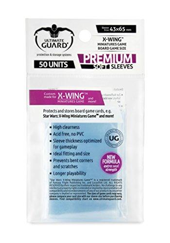 Ultimate Guard Premium Soft Sleeves Fundas de Cartas del Juego de Mesa X-Wing Miniatures Game (50)