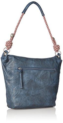 Tamaris Damen Lindsey Crossbody Bag Umhängetasche, 26x12x24 cm Blau (Navy)