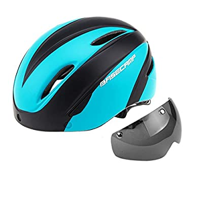Mountain Bike Helmet Cycle Helmet for Adult Men Women Magnetic Visor Goggles 290g Size 57-62CM from HJMTRY