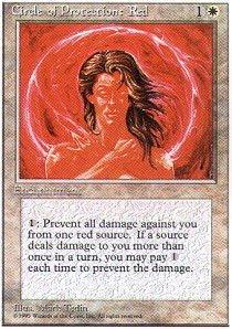 Magic the Gathering - Circle of Protection: Red - Circolo di Protezione: Rosso - 4th Edition