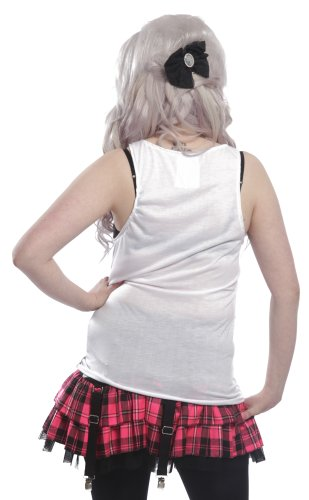 Cupcake Cult Top ANGRY KITTEN VEST Grey