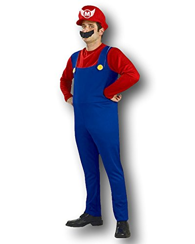 Kostüm Plumbers Mate Bros L - Rot (Super Mario Bros Kostüme)