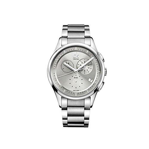 Orologio ck calvin klein basic ref. K2A27120 cronografo uomo quadrante argento