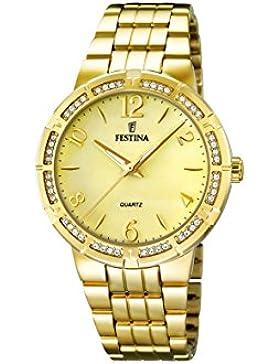 Festina Damen-Armbanduhr Analog Quarz Edelstahl F16704/2