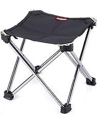natural Hike camping Silla Small Foldable Aluminium Alloy Stool Niños Pesca taburete negro negro