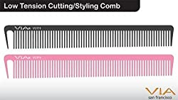 1stopsalon Low Tension Cutting/Styling Comb - Pink (2 pack)