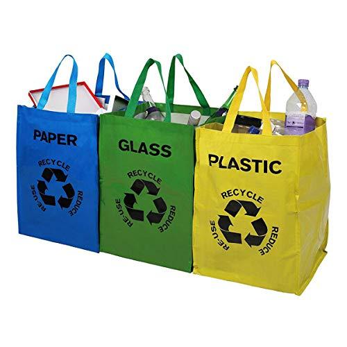 Tooltime UK Ltd. Pack 3 Bolsas Almacenamiento Reciclaje