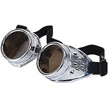 Gafas Steampunk de Calidad Ultra Superior Cibernéticas Estilo Punk Victoriano Soldadura Cosplay Gótico Remache Rústico o
