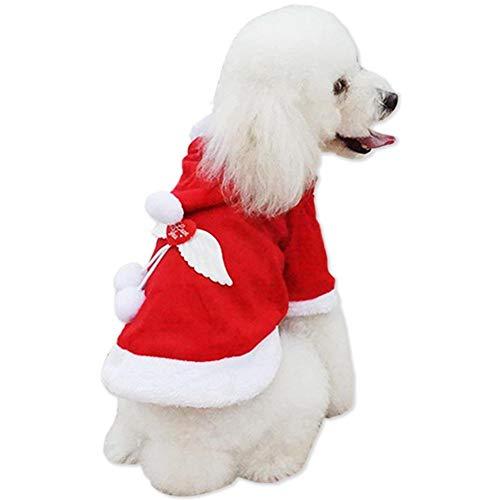 interkleidung, Pet Christmas Kostüm, Weihnachten Haustier Kleidung, Angel Wings Weihnachten Kostüm, Pet Christmas Supplies (S) ()