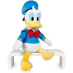 Mickey Mouse by Play Peluche Donald Oficial Disney Soft 40cm, Color Azul/Amarillo / Blanco, 30 Cm Sentado Y 40 Cm De Pie (8425611341137)