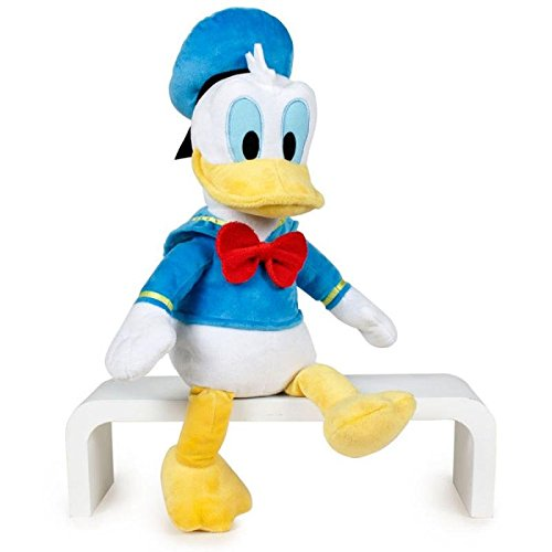 Mickey Mouse by Play Donald Official Soft Disney Official 40cm, Color Blue / Yellow / White, 30 Cm Sitting and 40 Cm Standing (8425611341137)