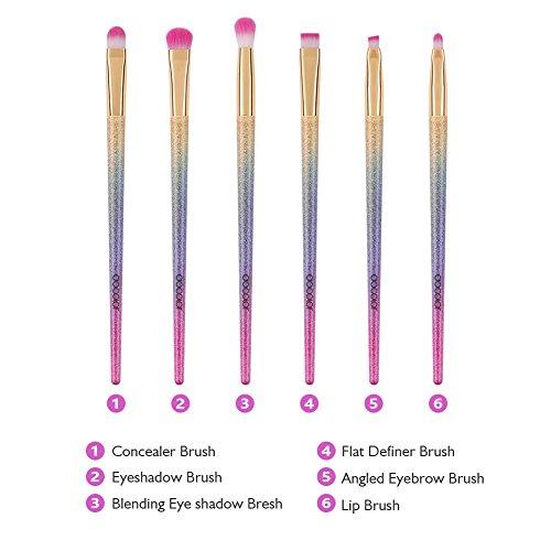 Docolor Makeup Brushes 6Pcs Fantasy Brush Set Eyeshadow Concealer Eyeliner Brow Blending Brush Kits with Gift Box … …
