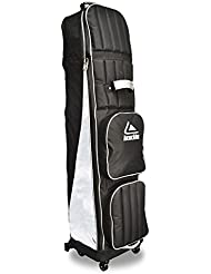 Long Ridge 4 Wheel Bolsa de deporte para golf, Unisex Adulto, Negro / Plata, Talla única