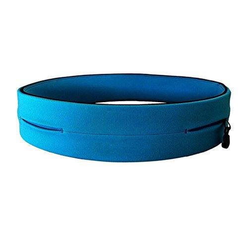 Reefa Professional Running Carrier Case für Handy Die meisten Uinsex Elastic Gym Fitness Sport Jogging Pouch Laufen Zubehör Blau