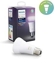 Philips Lighting White and Color Ambiance Lampadina LED Singola, E27, 9.5 W, senza Bridge, Argento, 1 Pezzo