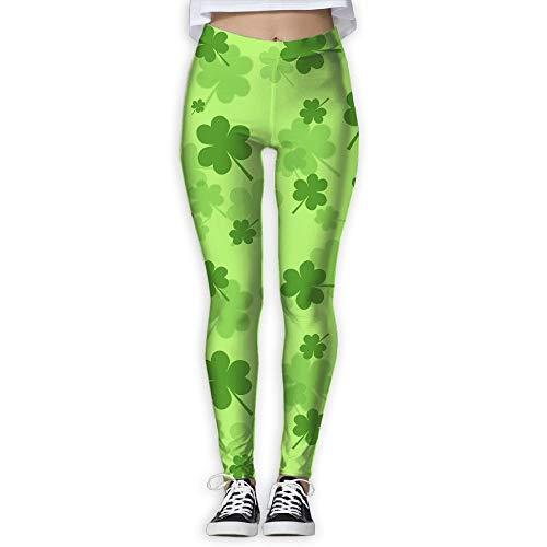 QIAOJIE-High Waist Ultra Soft Lightweight Leggings, St Patrick's Day Shamrock Women's Stretchable Sports Running Yoga Workout Leggings Pants