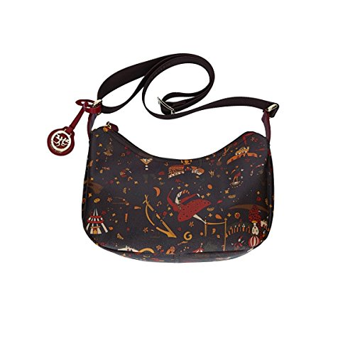 Piero Guidi borsa a tracolla donna Magic Circus Soft 214914038.02 marrone, 8054434205953