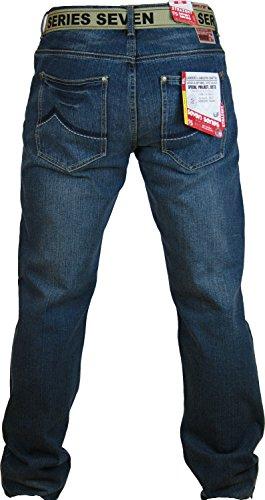 Herren Loyalty & Faith Gerades Bein Denim Jeans Blau - Dark Wash