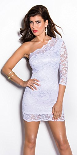 In-Stylefashion - Robe - Femme Rose Rose Blanc - blanc