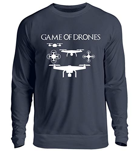 Game of Drones - FPV Racing Drohnen Flugdrohnen Modellbau Pilot RC Racing Schrauber Tüftler Mechaniker Hobby Beruf Lustig Spruch Pulli Hoodie T-Shirt Geschenk - Unisex Pullover -L-Oxford Navy
