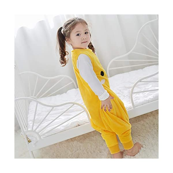 Sacos de Dormir para niños 1.5 Tog con Piernas Cremallera Frontal 18-36 Meses