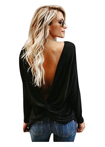Magliette Sexy Da Backless Donna Maglione Maglioni Inverno Casual Y7wTApx