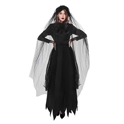 Halloween Tochter Mutter Kostüm - De feuilles Damen Mädchen Halloween Kostüm Sets Dunkle Braut Kleider Mutter Tochter Bekleidungssets Familien Kleidung