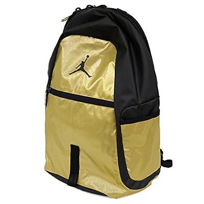 Nike Air Jordan Jumpman Reflektor Alle Welt Schultasche Sport Laptop Student Rucksack Metallic Gold