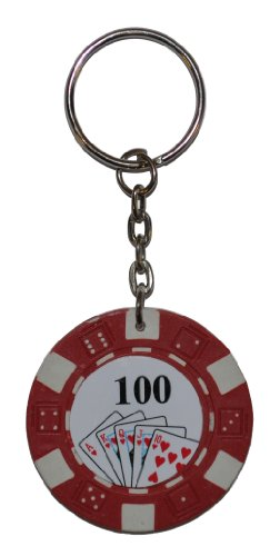 Rot Poker Chip Schlüsselring (Red Keyring)