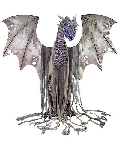 Screamstore Winter Dragon Drachen 2 Meter Animatronic Halloween