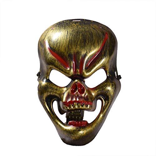 Karneval Vintage Purge Schädel Teufel Dämon Maskerade Maske Kostüm Vollgesichts Sexy Halloween Karneval Masken Für Erwachsene Cosplay Party,Gold (Bilder Von Teufel Kostüm)