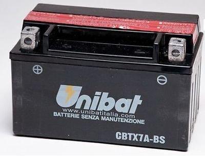 BATTERIA MOTO SCOOTER UNIBAT NO YUASA CBTX7A-BS