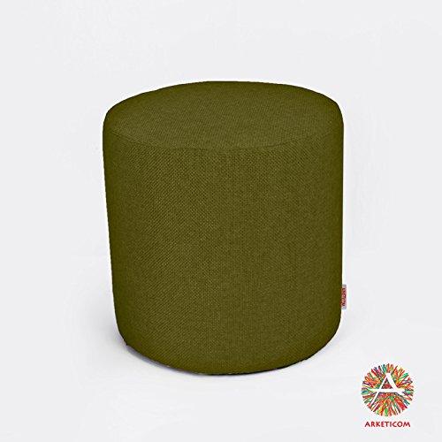 Arketi-com Sitzwurfel Zylindrische Grün höher Dichte erweitert Polyurethan Größe 55x55x45cm