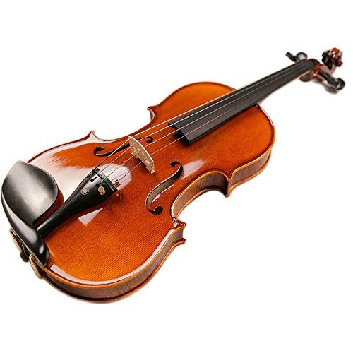 L&q violino marrone lucidato a mano, schienale in acero di alta qualità, pannello in abete, con scatola di alta qualità, arco ottagonale in argento ebano (3/4)
