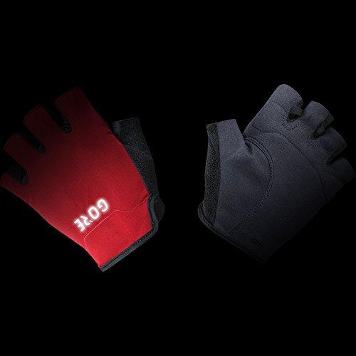 GORE Wear Atmungsaktive Herren Fahrrad-Kurzfingerhandschuhe, GORE C3 Short Finger Gloves, 100119 black/Red