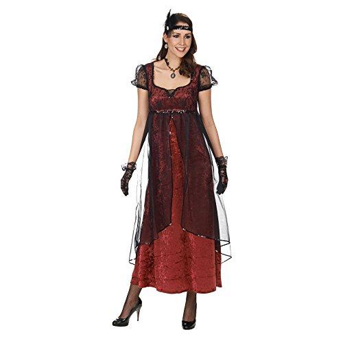 Titanic Kleid rot schwarz Damen Kostüm festliches 20ziger Jahre Kleid - (Titanic Kostüme)