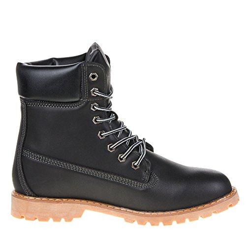 Damen Schuhe, 666, STIEFELETTEN Schwarz 0251-Y