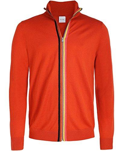 Paul Smith Herren Merino Wolle Zip-through Strickjacke Rot Rot