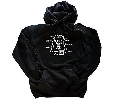 BRUCE BEST OF 09 Nunchaku - Weapon of the Hoody Kapuzensweatshirt Schwarz XXXL