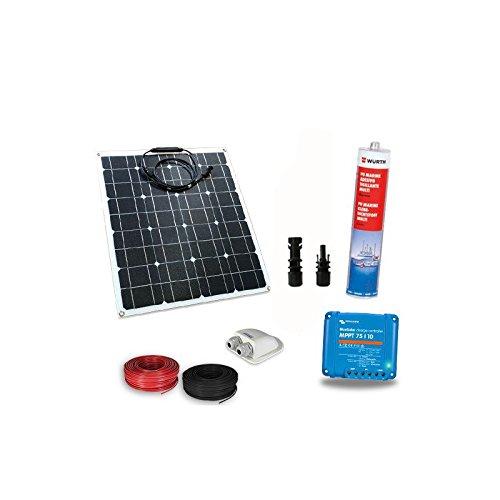 Los?Kit solar barco Pro? Incluyen panel solar flexible, regulador de carga para la gestión de la batería motor y de la batería servicios, conectores, pasacables y cables de conexión
