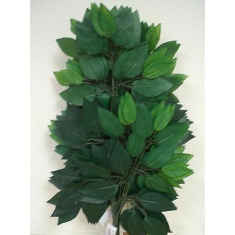 Bundle de 12verde Ficus Hojas pulverizadores Seda Artificial