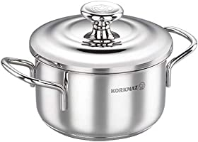 Korkmaz Tombik Stainless Steel Cookware 3.6 L, Silver, A1077