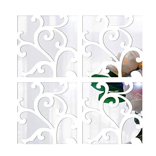 DIY 3D espejo de acrílico etiqueta pared,Anself extraíble pegatinas de arte dodoskinz Mural para la decoración del hogar